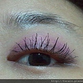 Office Week Series-14 May 2012-Blue tone Pink-8-mascara effect one eye-2