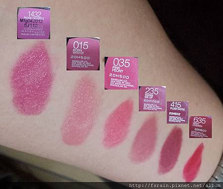 Maybelline ColorSensational Lipsticks Comparison Swatches-01