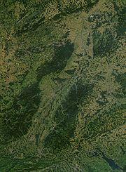 德國黑森林衛星圖