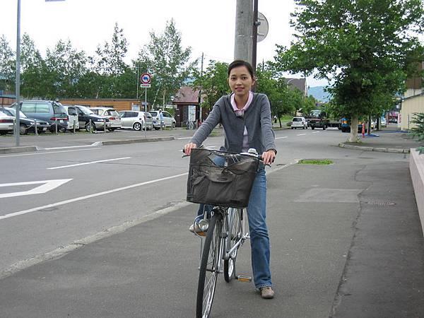 車站旁租的腳踏車