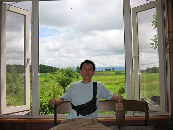 民宿窗外的風景,一望無際