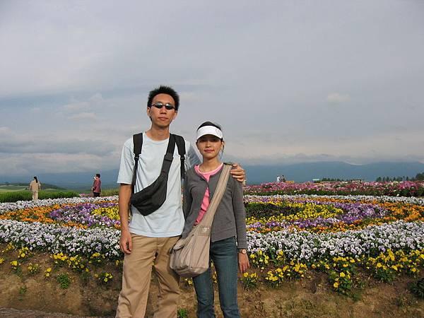 五顏六色的花