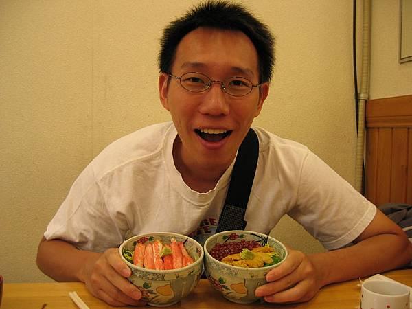 超讚的早餐(蟹肉+鮭魚卵+海膽)