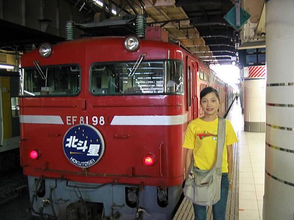 北斗星號的火車頭(坐一趟要九千多日幣),東京終於到了