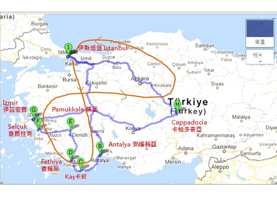 土耳其發路線