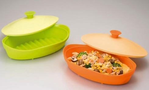 《輕鬆省時》微波用矽膠烤盤‧兩色一組 001.jpg