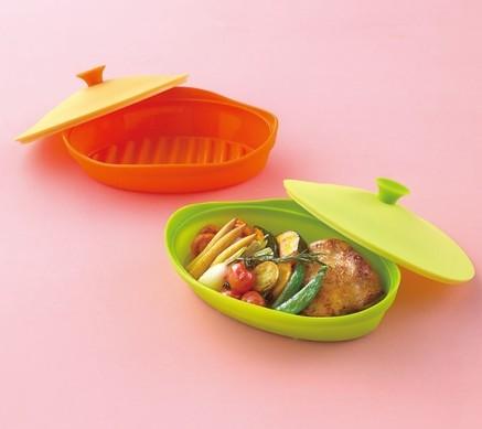 《輕鬆省時》微波用矽膠烤盤‧兩色一組 003.jpg