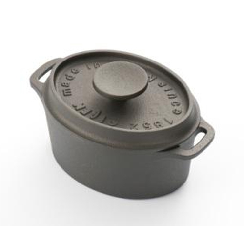 《及源鑄造》鑄鐵迷你烤鍋‧12cm橢圓款