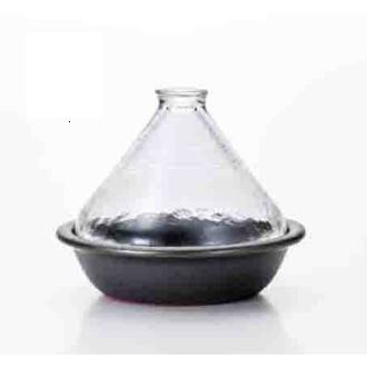 《桃華繪里精選》蒸煮式‧摩洛哥透明塔金鍋(萬古燒款)2