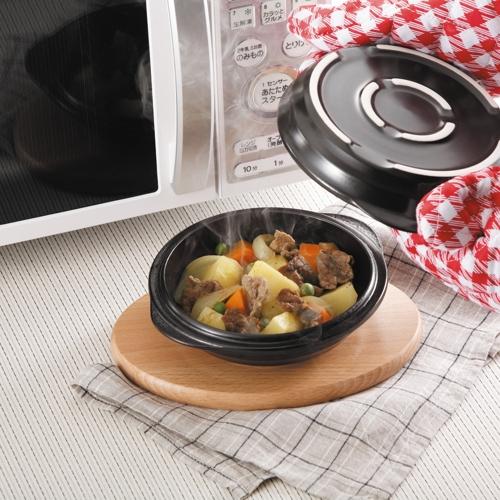 《夢幻廚房》微波耐熱陶燒烤盤‧深淺兩用型