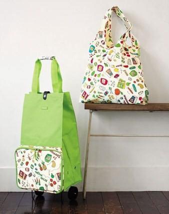《德國Reisenthel》蔬果圖案‧收納式購物車&購物袋組