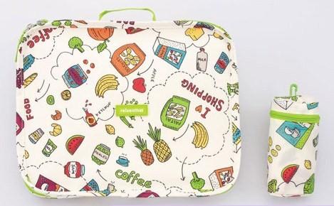 《德國Reisenthel》蔬果圖案‧收納式購物車&購物袋組2
