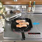 《防煙設計》摺疊式把手萬用燒烤鍋