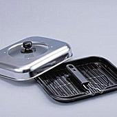 《防煙設計》摺疊式把手萬用燒烤鍋  (3)