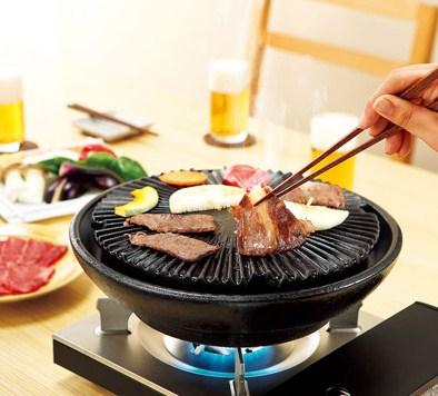《長谷園伊賀燒》薄型少煙設計‧桌上型燒肉鍋(2-3人份)