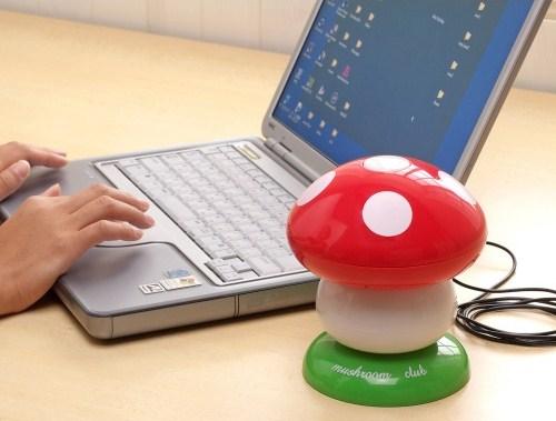 《精油舒壓》USB香菇造型噴霧加濕器