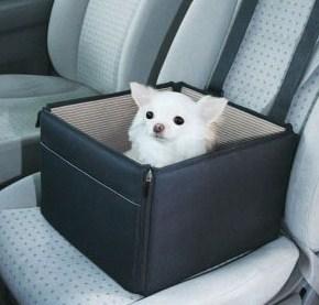 《折疊收納式》汽車前座寵物袋‧附安全帶設計 (2)