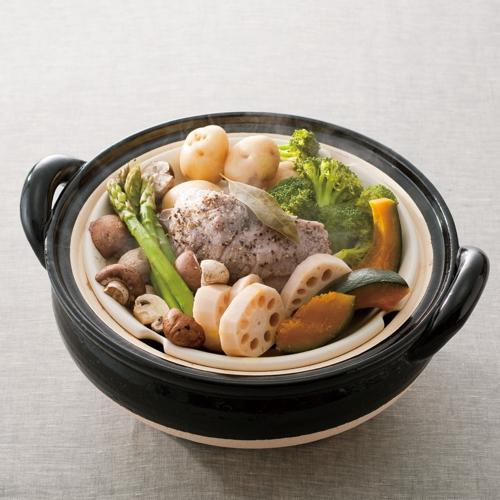 《長谷園伊賀燒》冷熱料理兩用‧遠紅外線健康蒸鍋