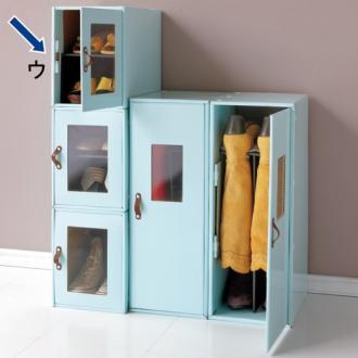 《炭消臭機能》組裝式鞋子收納箱 (2)