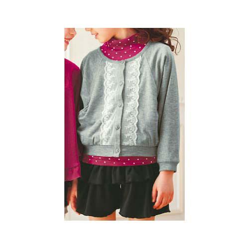 cecile童裝---蕾絲刺繡口袋外套