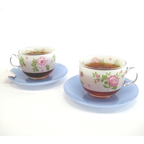 《幸福時光》愛戀法國粉玫瑰茶杯組‧四對組