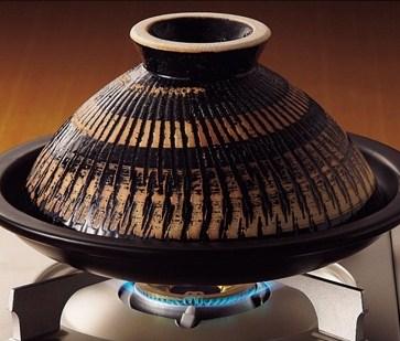 《長谷園伊賀燒》蒸煮式‧摩洛哥陶土塔金鍋(大)31 (3)