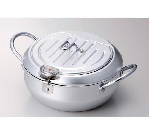 《炸物專用》濾油式鍋蓋油炸鍋