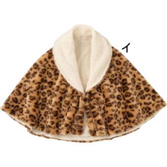 動物紋保暖披肩