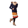 cecile女裝--多色兔毛領雙排釦混羊毛外套