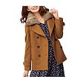 cecile女裝--多色兔毛領雙排釦混羊毛外套 (4)