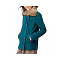 cecile女裝--多色兔毛領雙排釦混羊毛外套 (5)