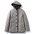 cecile女裝--保暖機能混羊毛連帽舖棉外套