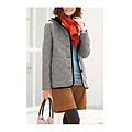 cecile女裝--保暖機能混羊毛連帽舖棉外套 (2)