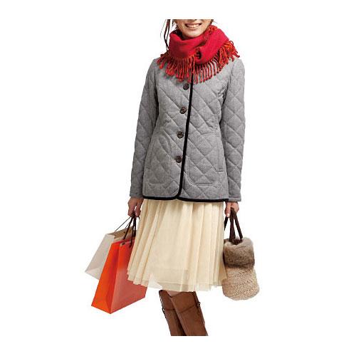 cecile女裝--保暖機能混羊毛連帽舖棉外套 (4)
