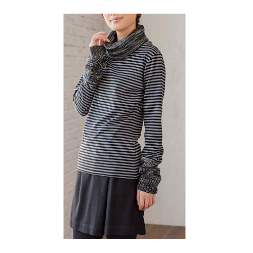 cecile女裝--個性不對稱混羊毛褲裙 (4)