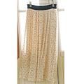 cecile女裝--氣質點點雪紡蝴蝶結印花米色長裙 (3)