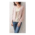 cecile女裝--起毛感蕾絲混羊毛針織薄外套 (3)
