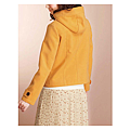 cecile女裝--甜美保暖仿羊毛連帽口袋外套 (2)