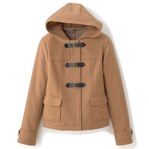 cecile女裝--甜美保暖仿羊毛連帽口袋外套 (3)