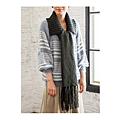 cecile女裝--溫柔感毛海針織灰色條紋毛線罩衫