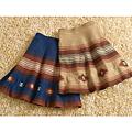 cecile女裝--溫暖色調民族風格A字短裙