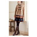 cecile女裝--溫暖色調民族風格A字短裙 (2)