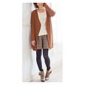 cecile女裝--簡約慵懶針織長版外套