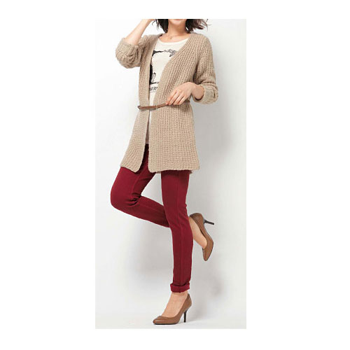cecile女裝--簡約慵懶針織長版外套 (2)