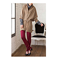 cecile女裝--簡潔設計腰身綁帶長版襯衫