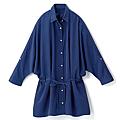 cecile女裝--簡潔設計腰身綁帶長版襯衫 (3)