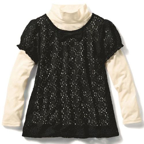 cecile童裝---小淑女二件式蕾絲上衣
