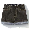 cecile童裝---內裏點點伸縮性高牛仔短褲2