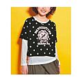 cecile童裝---水玉點點長袖上衣2件組(黑色)