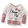 cecile童裝---水玉點點蝴蝶結長袖上衣2件組2